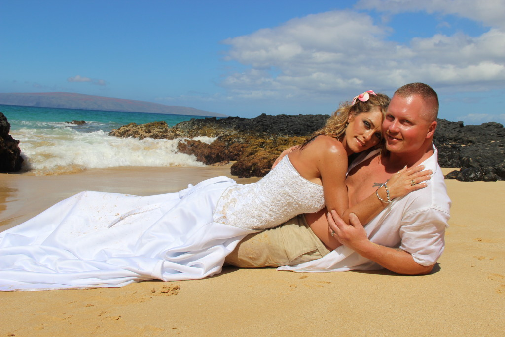 Maui Vow Renewals Barefoot Maui Wedding Trash the Dress photo shoot