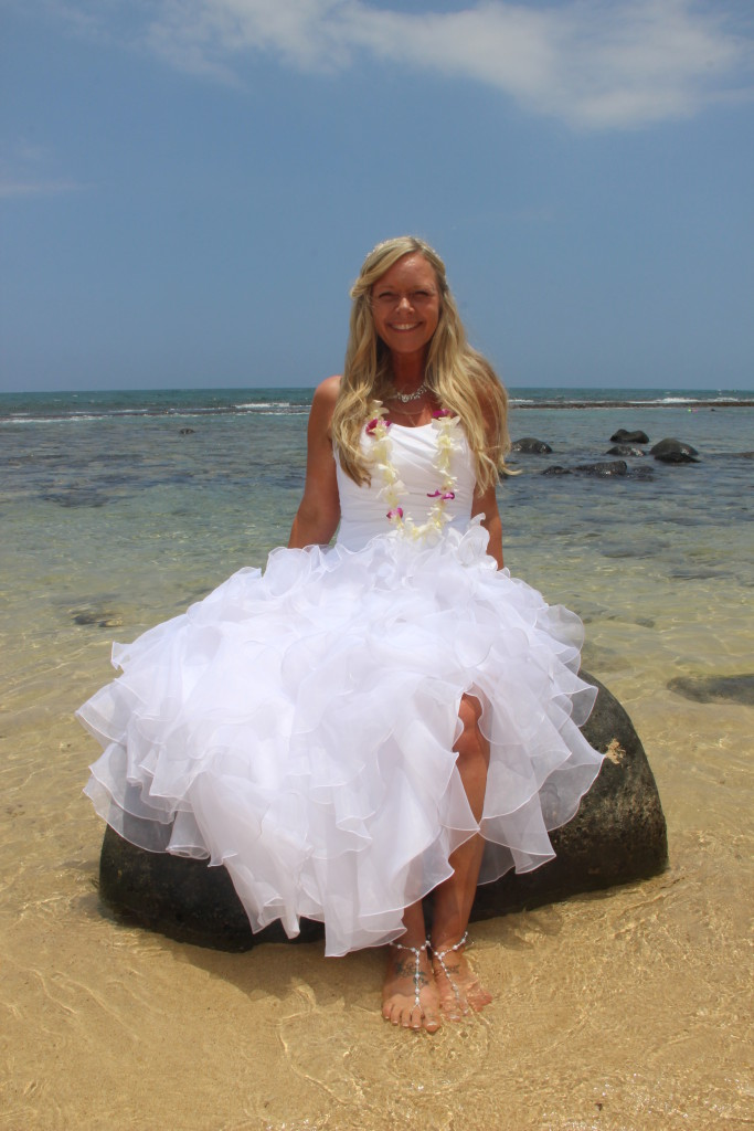 Maui Vow Renewals Barefoot Maui Wedding Trash the Dress photo of bride at Makena Cove